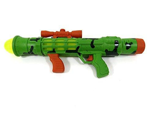 Combat Mission Bazooka Battery Operated Children's Toy Gun with Mock Scope, Lights, and Sounds PS111 Green