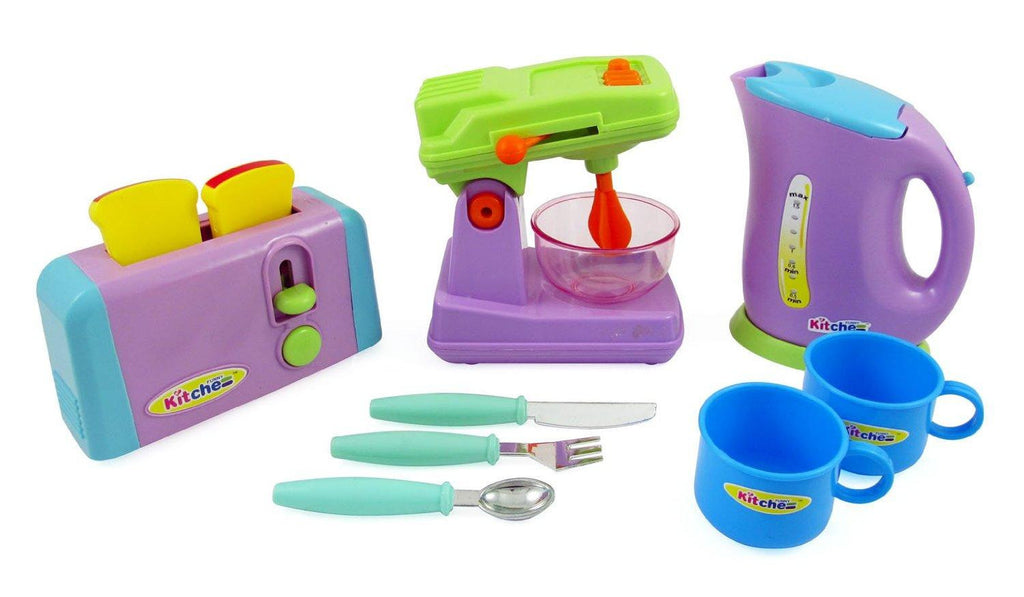 Kitchen Appliances Toy Set - Mixer, Toaster, Kettle, Cups & Utensils