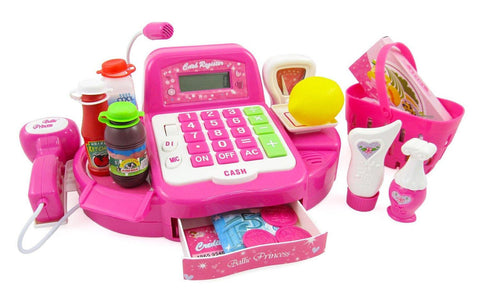 "12"" Pink Supermarket Cash Register"