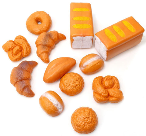 12 Pieces Bread Food Playset