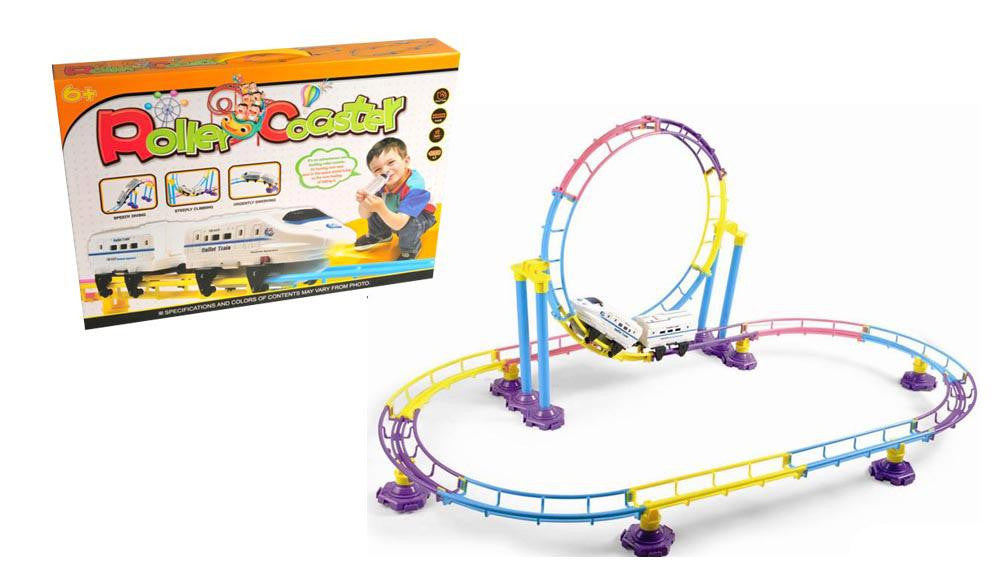 High Speed Roller Coaster Bullet Train Toy Building Set (77 Pcs)