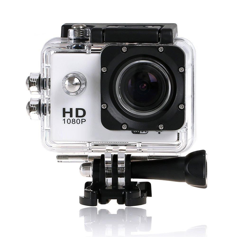 Sport Camera 1080P HD Built in WiFi and Waterproof White