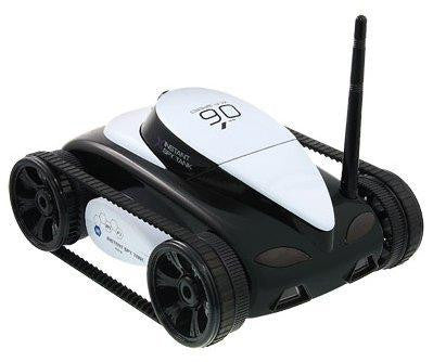 App-Controlled Wi-Fi Spy Tank with Camera (Black)