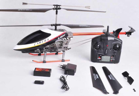 "28"" 3 Channel Big Metal RC Helicopter 2.4GHz With Video Camera"