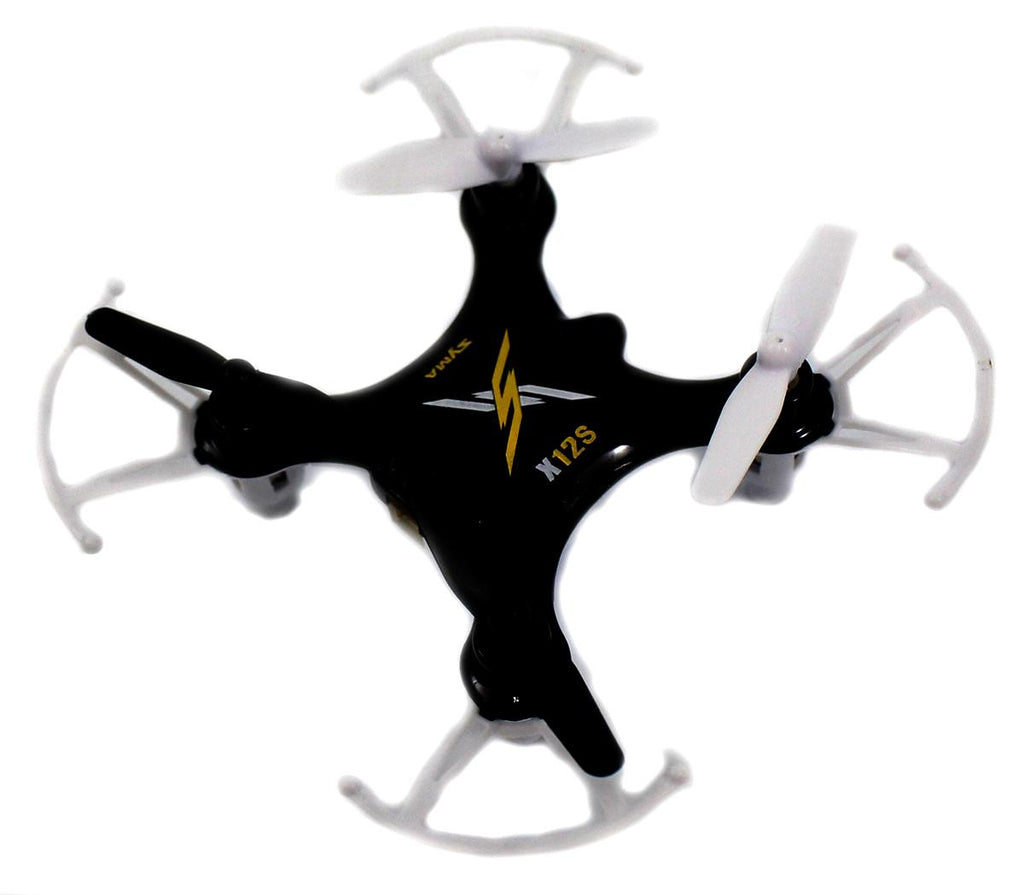 X12S Nano 6-Axis Gyro 4CH RC Quadcopter (Black)
