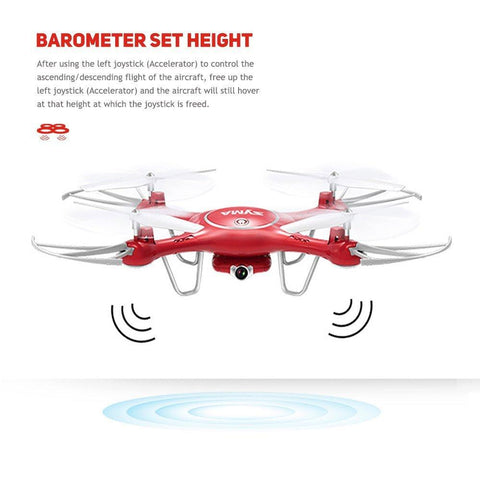 Syma X5UW Wifi FPV 720P HD Camera Quadcopter Drone with Flight Plan Route App Control & Altitude Hold Function