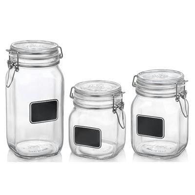 Fido Glass Storage Chalk 3pc