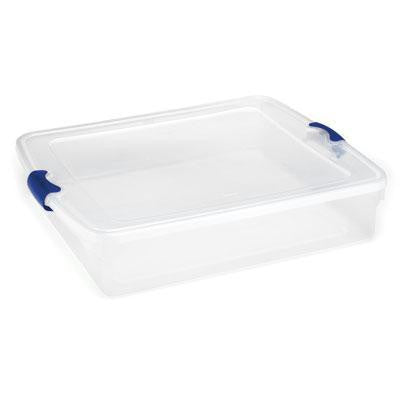 56qt Underbed Clear Storage Fq