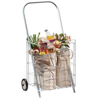 2 Wheel Small Tote Cart White  F