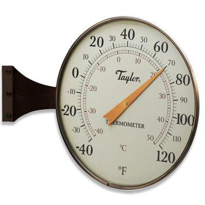 "8.5"" Dial Thermometer Bronze"
