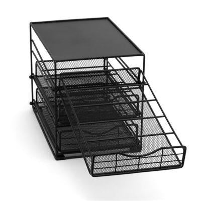 3tier In Cabinet Kcup Drwr Blk