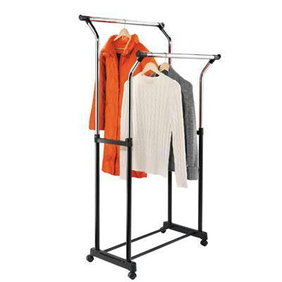 Double Flared Garment Rack Blk