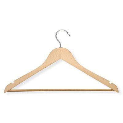 24pk Maple Finish Suit Hangers