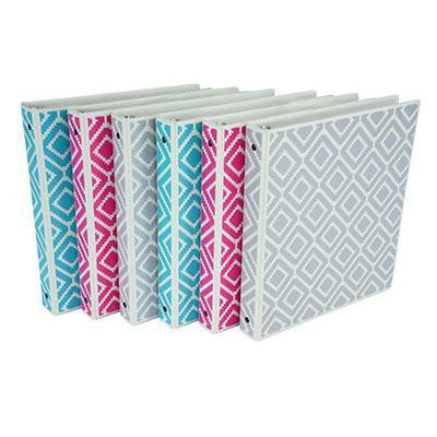 "1"" Diamond Print Binder 6pk"