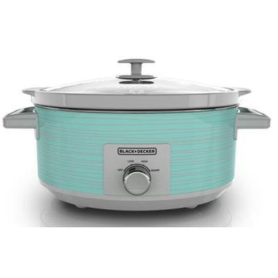 Bd 7qt Slow Cooker Teal Wave