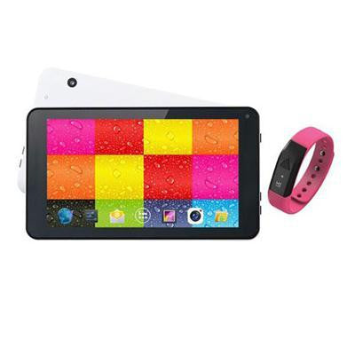 "7"" White Tablet And Pink Fitband"