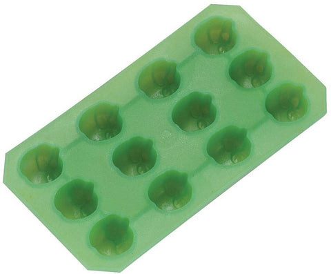 Flexible Apple Shaped Ice Cube Tray Green Chocolate Candy Mold