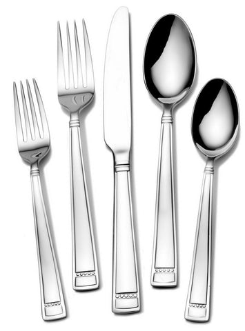 Towle Living Leah Frost 20 Piece 18/0 Stainless Steel Flatware Set Service For 4