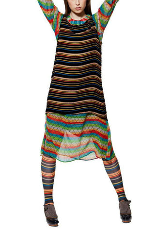 Miss Kibibi Multi stripes dress