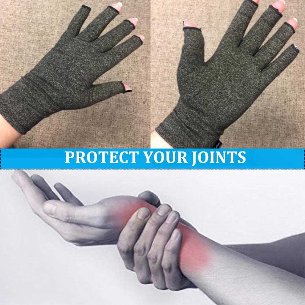 Adult Compression Arthritis Glove Arthritic Joint Pain Relief Hand Therapy 1Pair