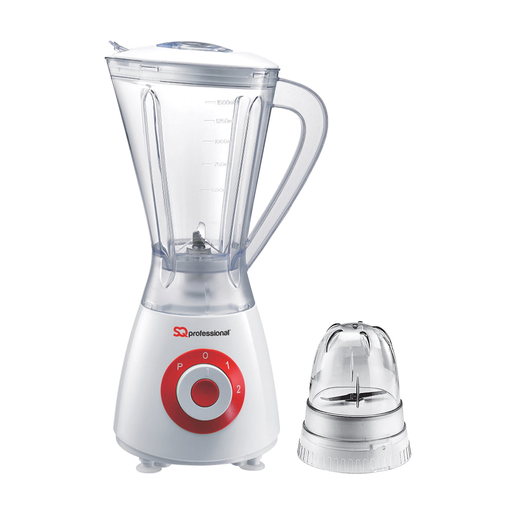 Superblend 1.5L Blender & Grinder with Two Speed & Pulse Function - White/Red
