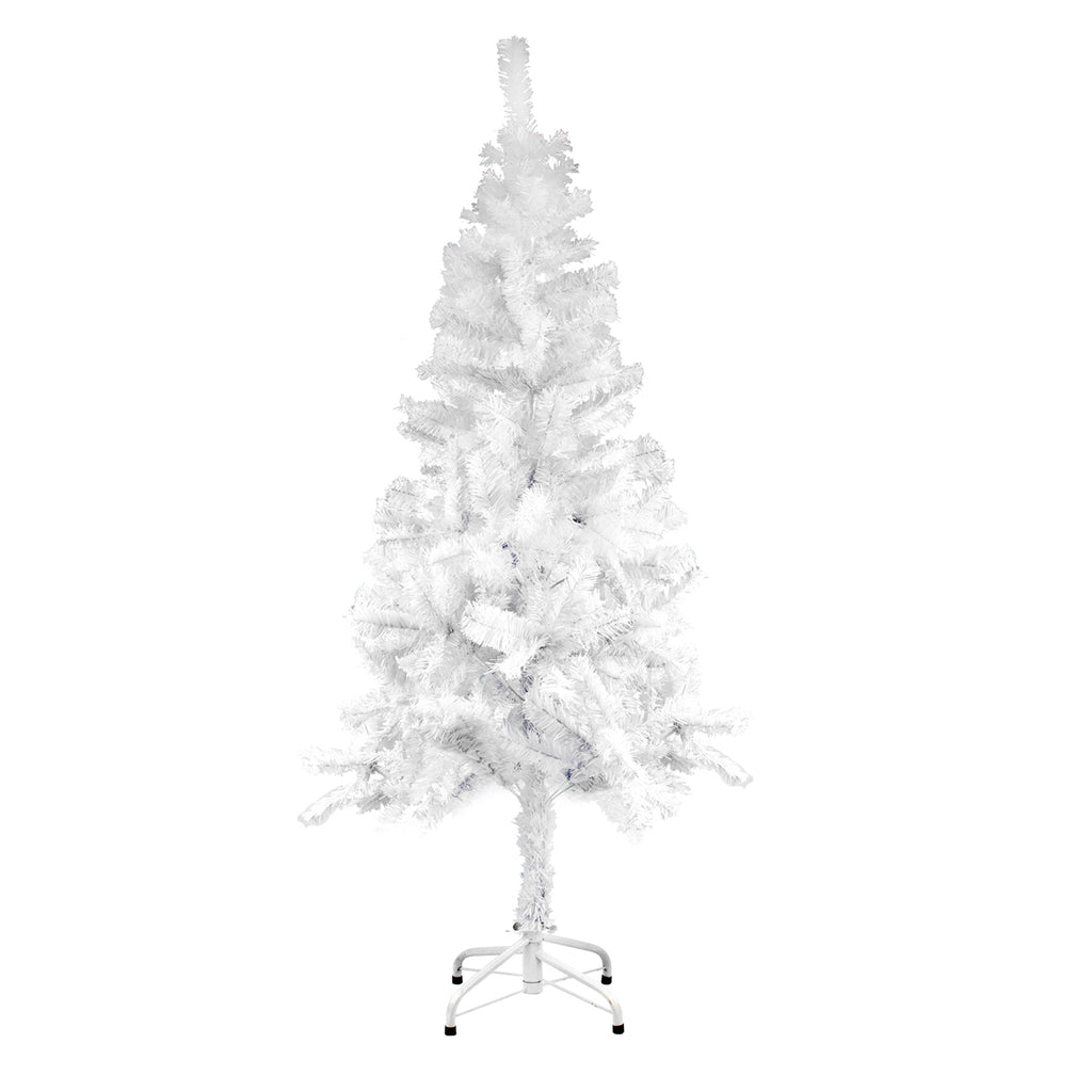 Christmas Tree Traditional Pine Artificial Tree With Metal Stand - White, 210cm