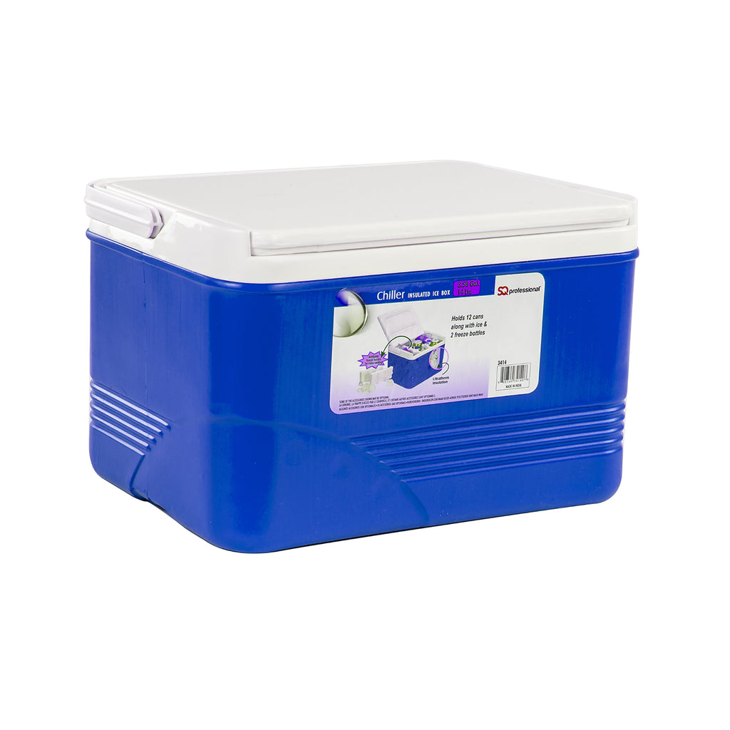 Ice Chest Cooler Box Camping Picnic Insulated Food Container - Blue, 14 L