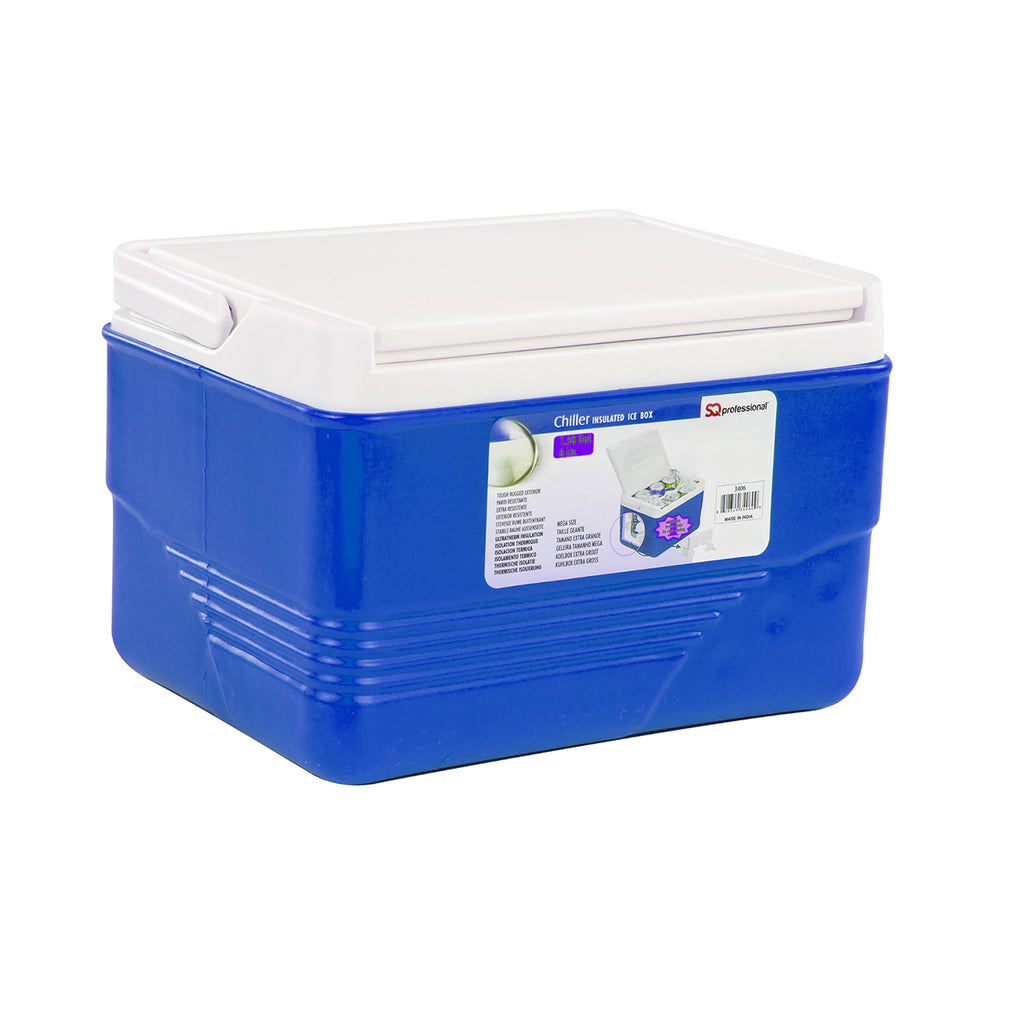 Ice Chest Cooler Box Camping Picnic Insulated Food Container - Blue, 6L