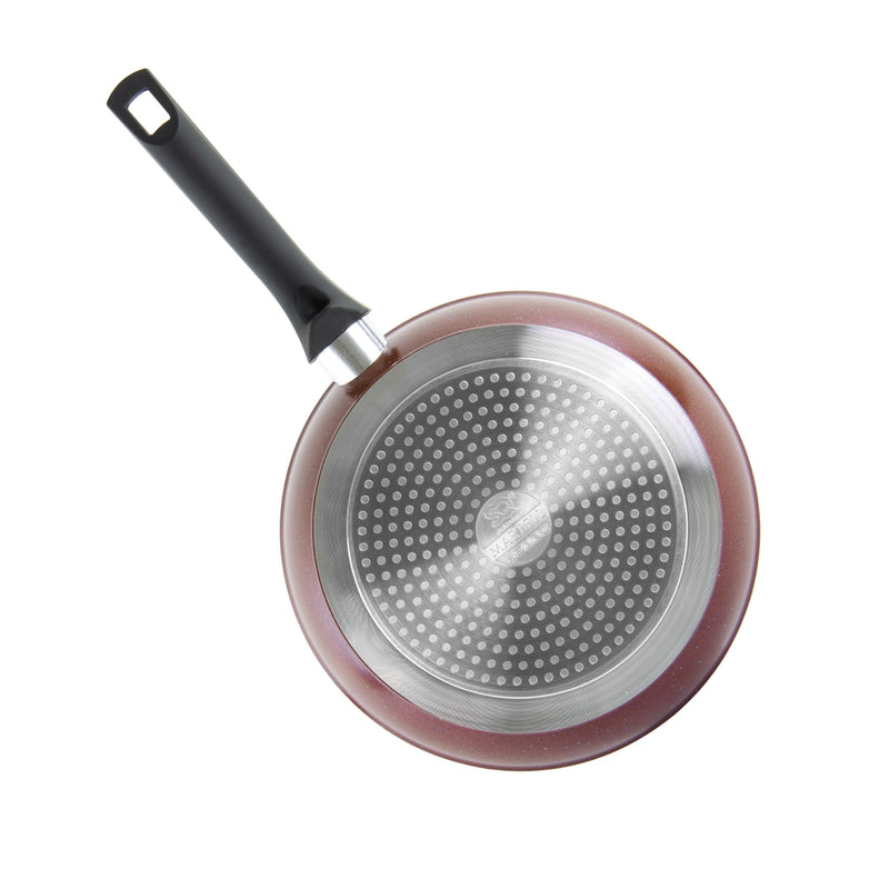 Nea Die-cast Non-stick Marble Frying Pan, Red - 24 cm
