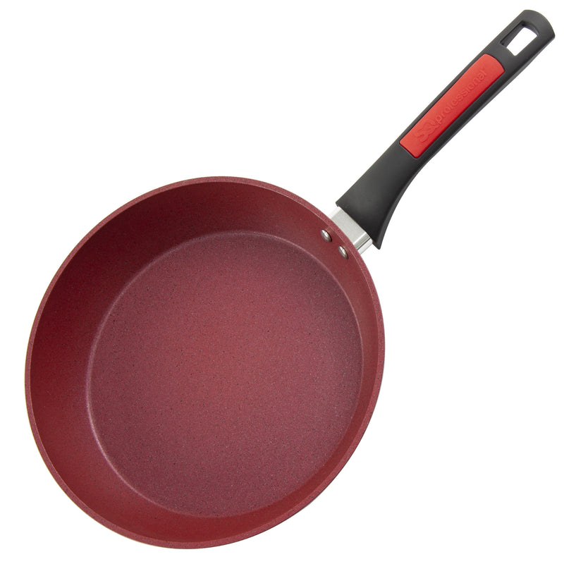 Nea Die-cast Non-stick Marble Frying Pan, Red - 28 cm