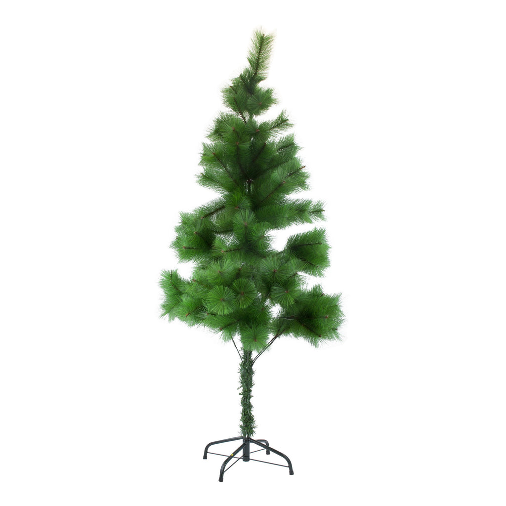 Christmas Tree Lush Artificial Decoration Tree With Metal Stand - Green, 150cm