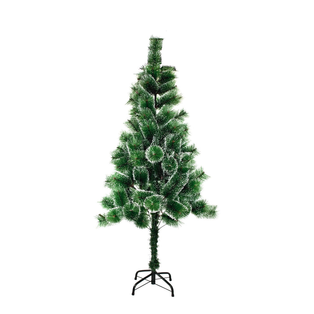 Christmas Tree Lush Artificial Decoration Tree, White Tips - Green, 150cm