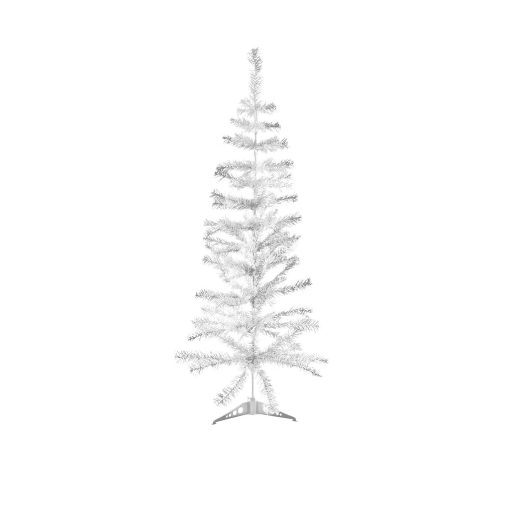 Christmas Tree Traditional Artificial Decoration Tree, White - 120cm, 100 Tips