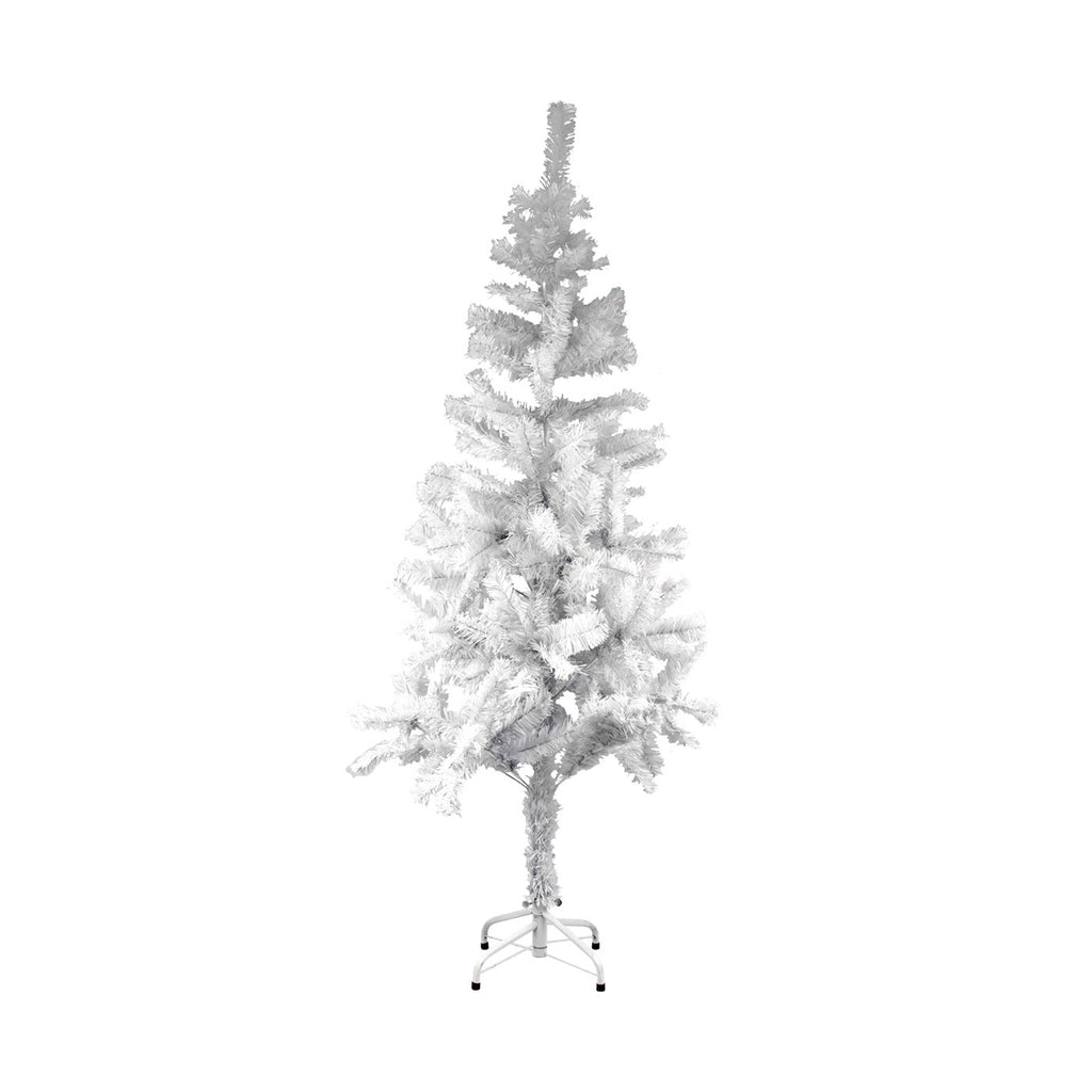 Christmas Tree Traditional Artificial Decoration Tree, White - 150cm, 250 Tips