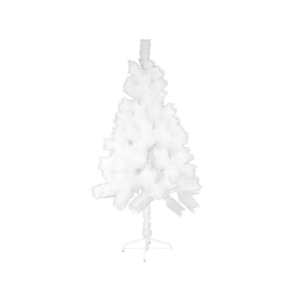 Christmas Tree Lush Artificial Decoration Tree With Metal Stand - White, 150cm