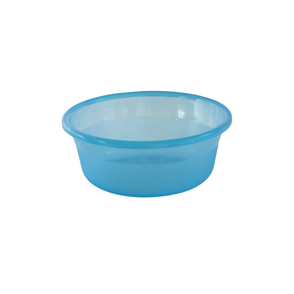 Plastic Round Basin Washing Up Bowl, Assorted Colours - 25 cm