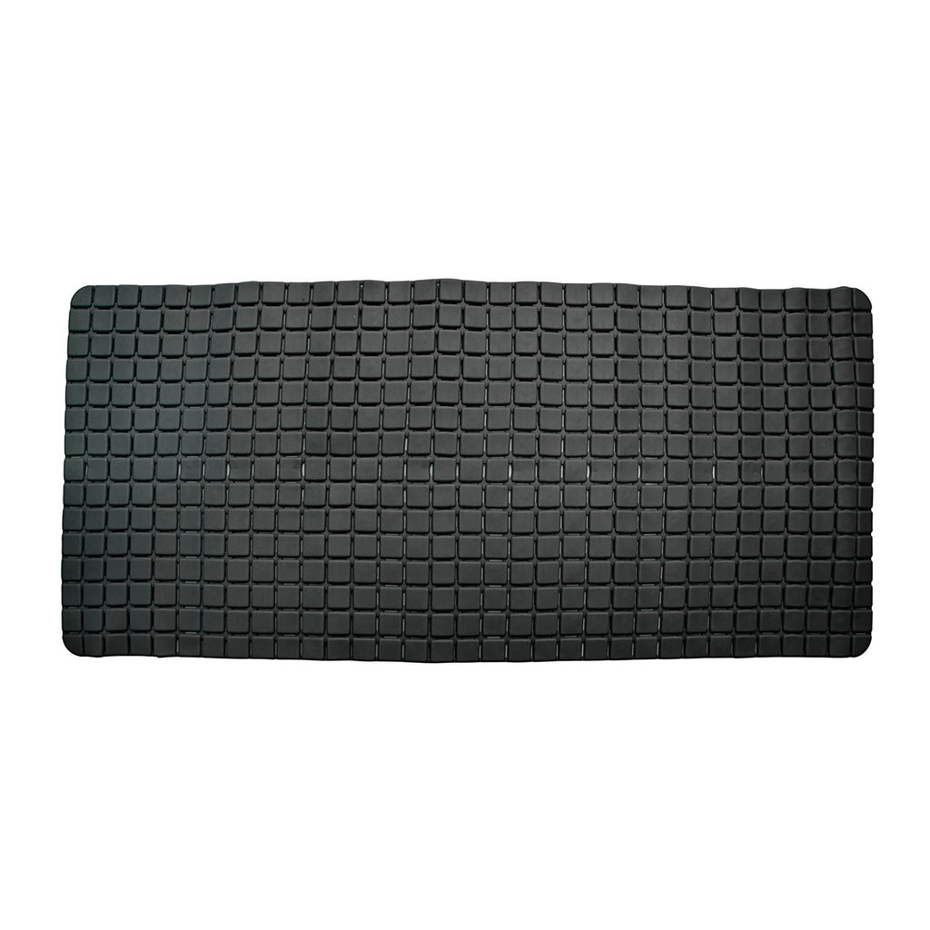 Bathroom Mats - Super PVC Rubber Bath Mat Large Size 78 X 35 Cm, Black