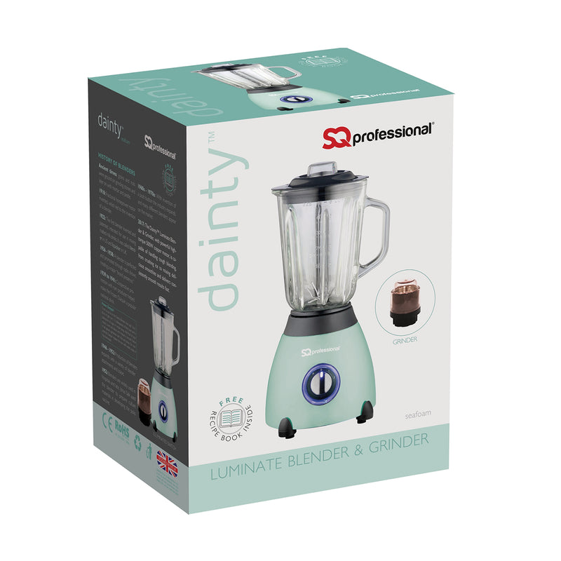 Dainty 500W Blender with 1.5L Glass Measuring Jug & Grinder - Mint Green