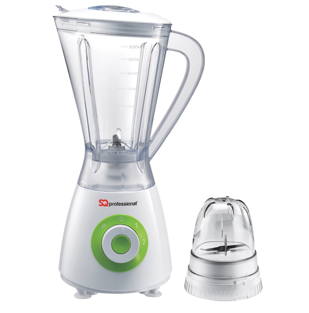 Blenders - Superblend 1.5L Blender & Grinder With Two Speed & Pulse Function - White/Green