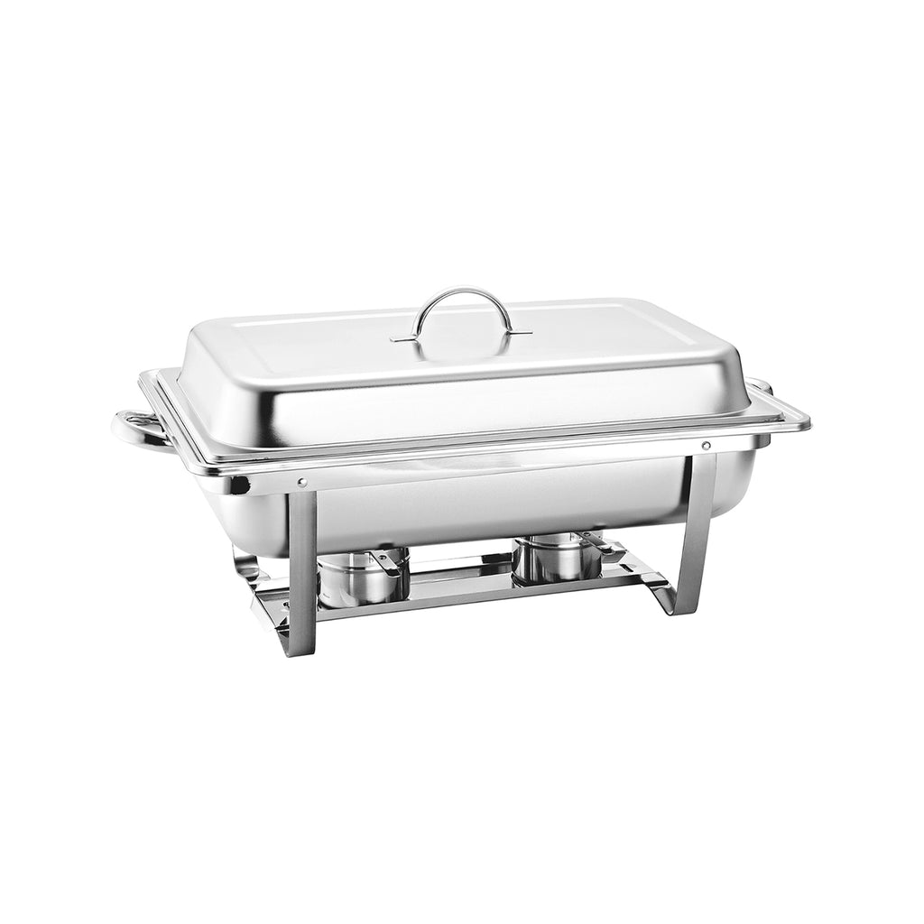 Stainless Steel Chafing Dish Food Pan Warmer - 9.5L Single With 2 Fuel Holders