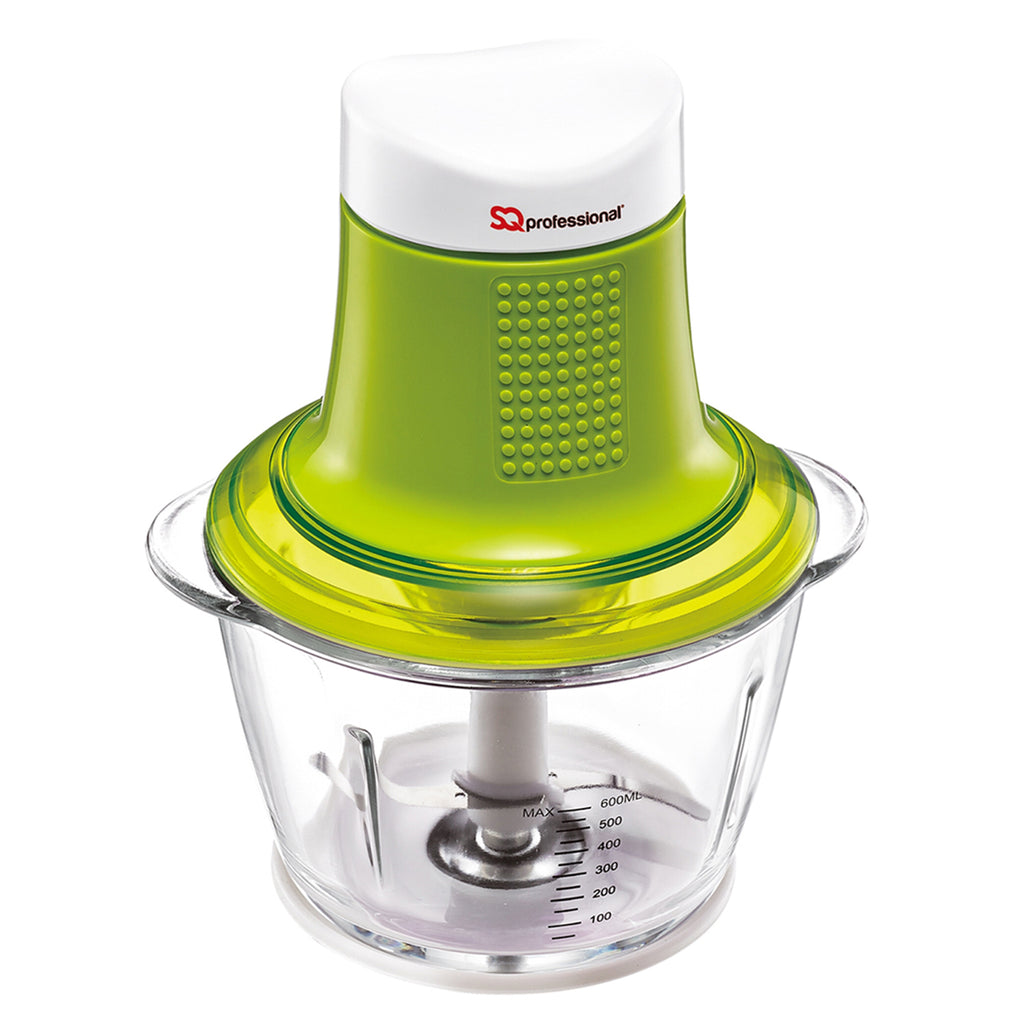 Mini Blitz Chopper - 300W With 600ml Glass Bowl & Stainless Steel Blade, Green