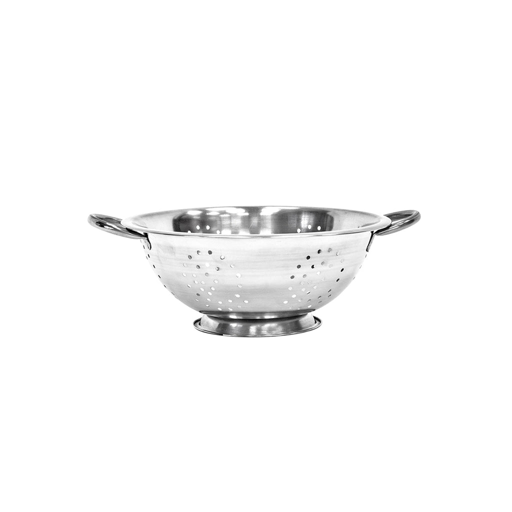 Twin Handled Colander, Stainless Steel - 28 cm