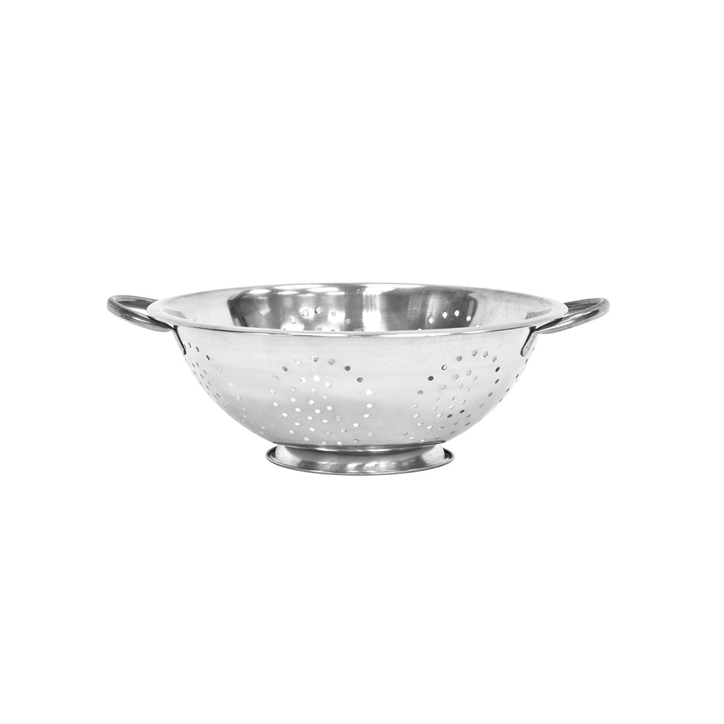 Twin Handled Colander, Stainless Steel - 32 cm
