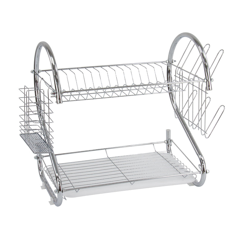 Durane 2 Tier Dish Drainer With Glass Holder & Drip Tray
