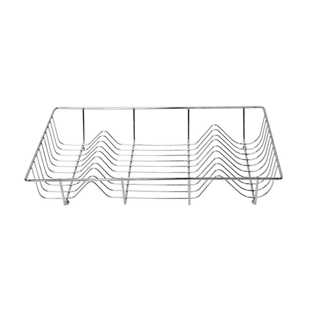 Drainers - Chrome Flat Rectangular Dish Drainer Heavy Sink Draining Rack