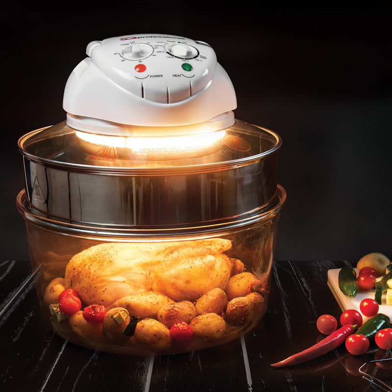 Halogen Oven with Protective Basket and Accessories - 1400W, 12-17L