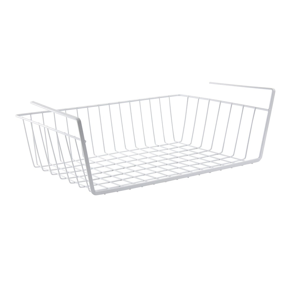 Home Accessories - Multipurpose Hanging Under Shelf Storage Basket Cabinet Organizer, White