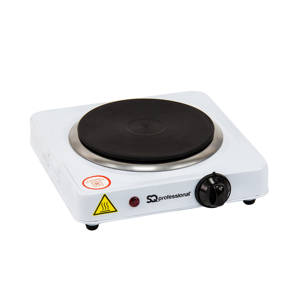 Electric Hot Plate Hob with Single Ring 1000W - Pale Blue