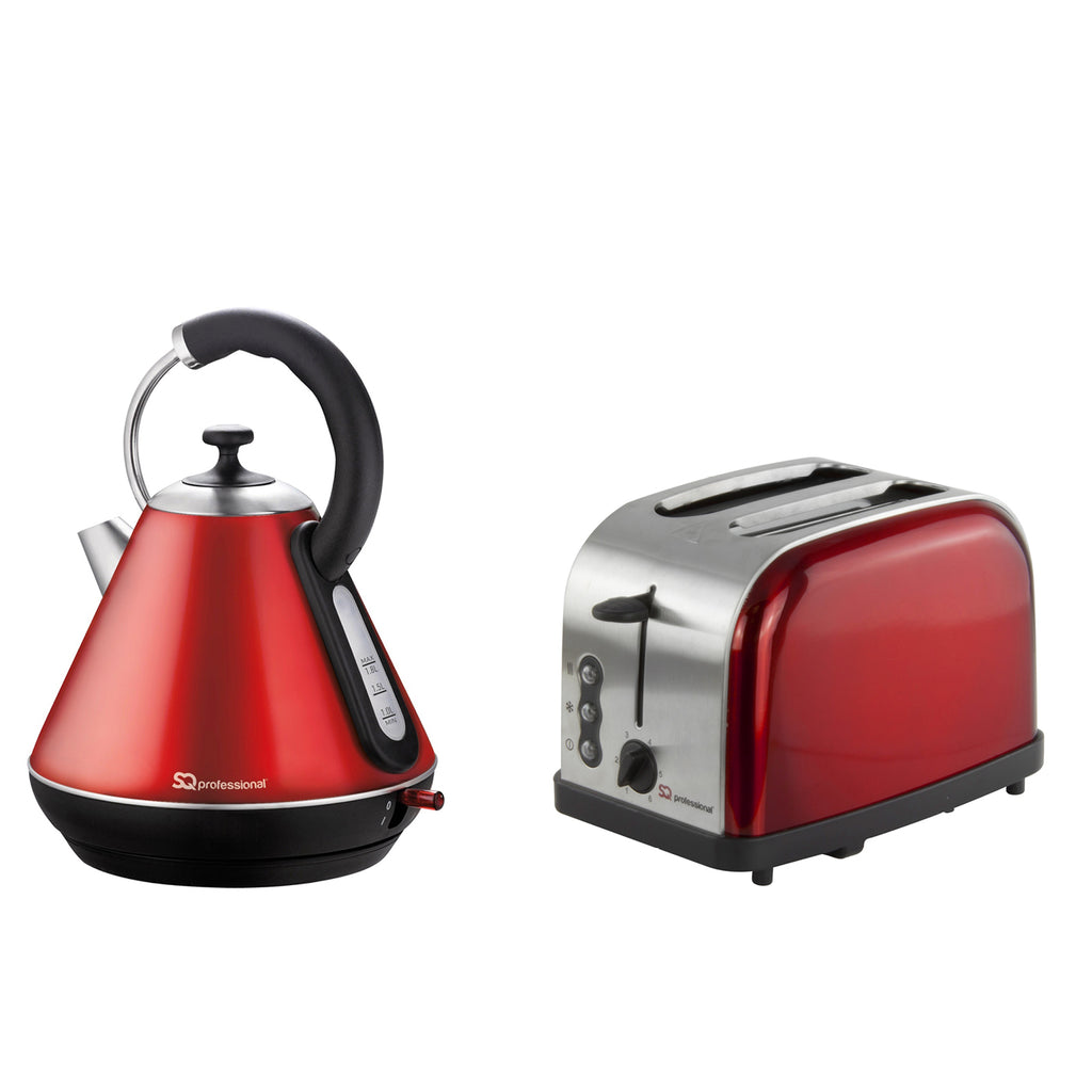 Electric Kettle U0026 Toaster Set, Stainless Steel   Ruby Red
