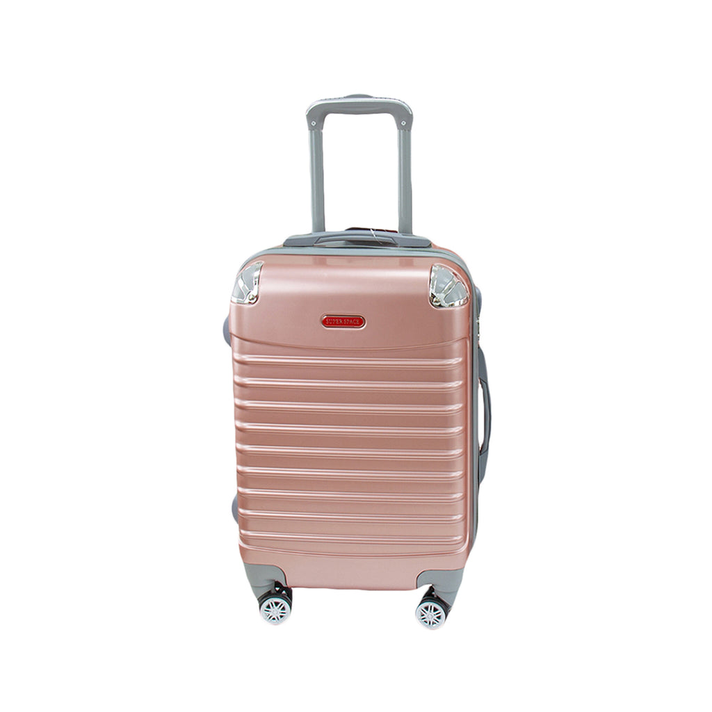 Travel Hard Shell Suitcase Cabin Luggage Bag Trolley - Rose Gold, L